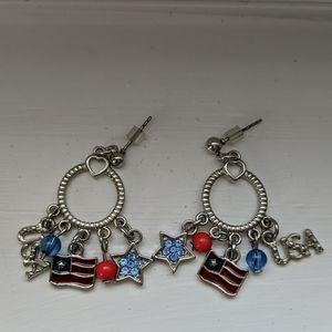 USA Charm Earrings